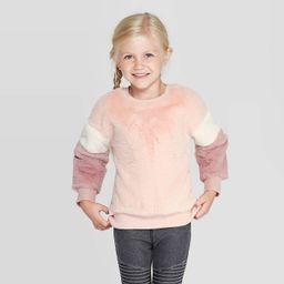 Toddler Girls' Faux Fur Pullover Sweater - art class™ Pink   Target