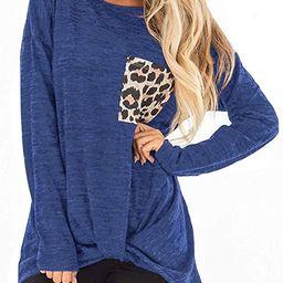 Womens Casual Tunic Tops Twist Knot Pullover Sweatshirts | Amazon (US)