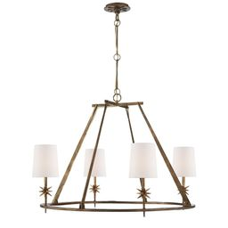 Ian K. Fowler Etoile 35 Inch 4 Light Chandelier by Visual Comfort and Co.   Capitol Lighting 1800lighting.com