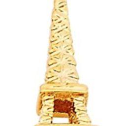14K Yellow Gold Paris Eiffel Tower Pendant | Amazon (US)