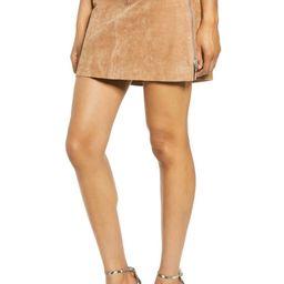 Side Zip Suede Miniskirt | Nordstrom