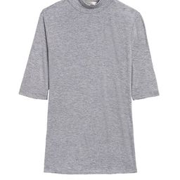 Rayon-Wool Mock-Neck T-Shirt | Banana Republic (US)