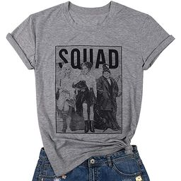 BANGELY Sanderson Sisters Squad Cute T Shirt Halloween Graphic Tees for Women Hocus Pocus Funny S... | Amazon (US)