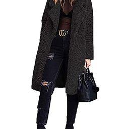 Women Long Cardigan Open Front Faux Fur Coats Fuzzy Fleece Warm Winter Jackets   Amazon (US)
