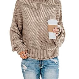 Doreyi Women's Casual Classic Solid Color Long Sleeve Warm Crew Neck Turtleneck Knitted Oversiz...   Amazon (US)