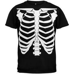 Halloween Skeleton Glow In The Dark Costume T-Shirt | Walmart (US)