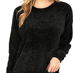 Ambiance Women's Classic Soft Chenille Knit Pullover Sweater/Cardigan | Amazon (US)