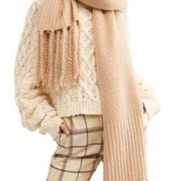 Jaden Rib Knit Blanket Scarf | Nordstrom