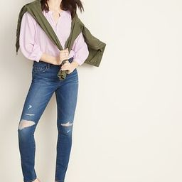 Mid-Rise Distressed Pop Icon Skinny Jeans for Women | Old Navy (US)