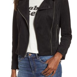 Not Your Baby Faux Suede Moto Jacket   Nordstrom
