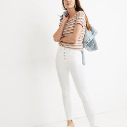 """10"""" High-Rise Skinny Jeans in Pure White: Step-Hem Edition 