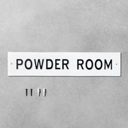 Wall Sign Powder Room White - Hearth & Hand™ with Magnolia | Target