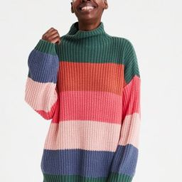 AE Mock Neck Oversized Sweater | American Eagle Outfitters (US & CA)