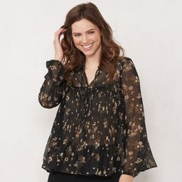 Women's LC Lauren Conrad Pleated Shirt | Kohl's