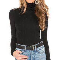 Zelda Mock Neck Bodysuit in Black   Revolve Clothing (Global)