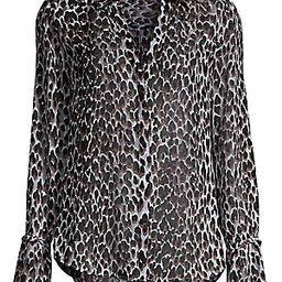 Abriana Animal-Print Silk Shirt   Saks Fifth Avenue