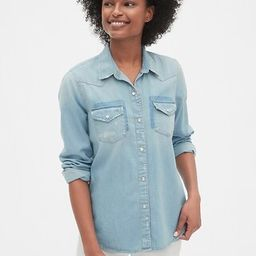 Distressed Denim Western Shirt | Gap (US)