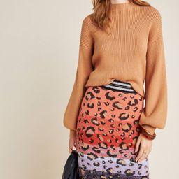 Leopard Sweater-Knit Pencil Skirt   Anthropologie (US)