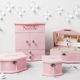 Pink Abigail Jewelry Box Collection   Pottery Barn Kids