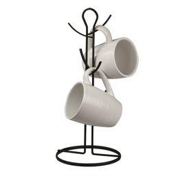 Wire Collection 6 Hook Mug Tree, Black | Walmart (US)