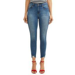 Sofia Jeans by Sofia Vergara Rosa Curvy Ripped Hem High Waist Ankle Jean Women's (Medium Wash) | Walmart (US)