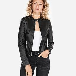 vegan leather jacket | Express