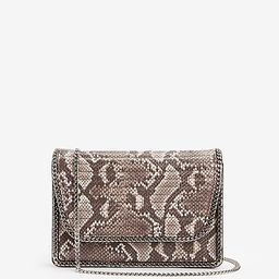 chain detail quilted shoulder bag | Express