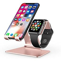 Apple Watch Stand, OMOTON 2 in 1 Universal Desktop Stand Holder for iPhone and Apple Watch Series...   Amazon (US)