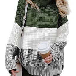 Asvivid Womens Turtleneck Long Sleeve Chunky Knit Pullover Sweater Tops   Amazon (US)