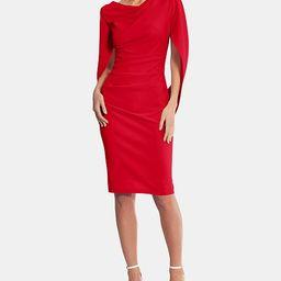 Caped Sheath Dress   Macys (US)