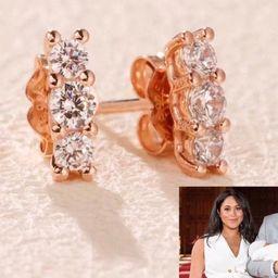 Meghan Markle Replica Earrings   Royal Baby Earrings   Natalie Marie Sun Stud Replica   Rhineston...   Etsy (US)