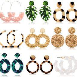 Acrylic Earrings for Women Drop Dangle Leaf Earrings Resin Minimalist Bohemian Statement Jewelry ... | Amazon (US)