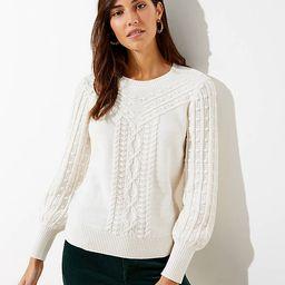 Bobble Cable Sweater | LOFT | LOFT