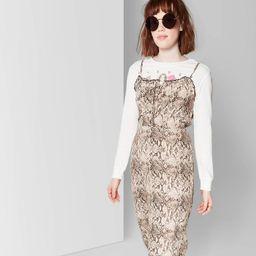 Women's Strappy Tie Front Midi Slip Dress - Wild Fable™ Brown | Target