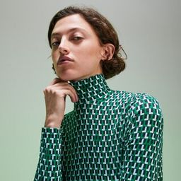 Fashion Show bedrucktes Damen-Rollkragenshirt | Lacoste (DE)