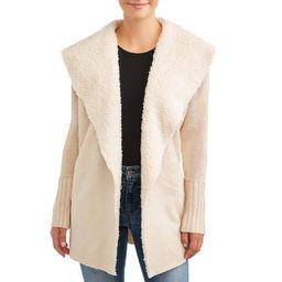 Women's Faux Suede Sweater Jacket | Walmart (US)