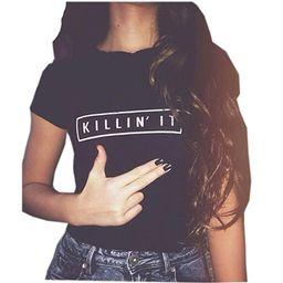 YITAN Women's Cute Juniors Tops Teen Girl Tee Funny T Shirt | Amazon (US)