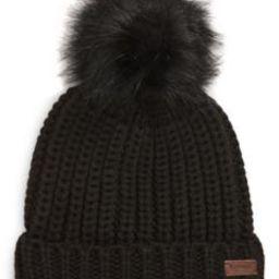 Saltburn Knit Beanie with Faux Fur Pom   Nordstrom