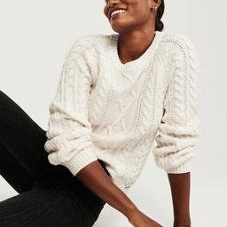 Cable Crew Sweater   Abercrombie & Fitch US & UK