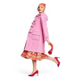 Women's Long Sleeve Hooded Duffel Coat - Isaac Mizrahi for Target Pink | Target