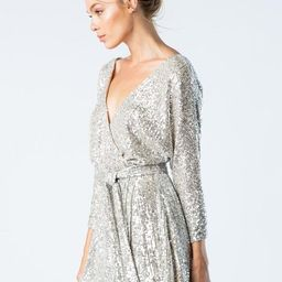 'audrey' neck sequin mini dress | Olive and Pepper