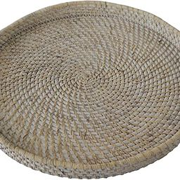 Wicker Serving Trays and Platters with Handles | Handcrafted Breakfast, Food, Dish, Coffee, Bread... | Amazon (US)