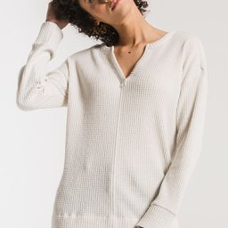 The Waffle Thermal Split Neck Top   Z Supply