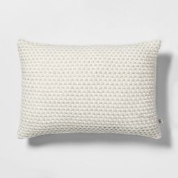 Textured Throw Pillow Green with Sour Cream - Hearth & Hand with Magnolia | Target