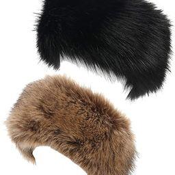 La Carrie Faux Fur Headband with Stretch Women's Winter Earwarmer Earmuff | Amazon (US)