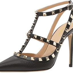 Lutalica Women Sexy Ankle Straps Sandals High Heel Pointed Toe Studded Stiletto Shoes Size 5.5-12... | Amazon (US)