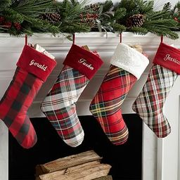Personalized Plaid Stockings   Pottery Barn (US)