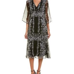 Taylor Dresses Women's Bell Sleeve Printed Chiffon Midi Dress | Amazon (US)