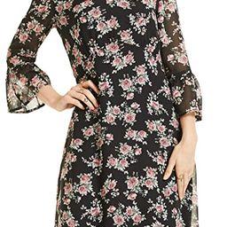 SONJA BETRO Women's Printed Chiffon 3/4 Bell Ruffle Sleeve Empire Midi Dress Plus Size | Amazon (US)
