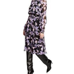 Diane von Furstenberg Athena Floral Silk Chiffon Mock-Neck Dress | Bergdorf Goodman